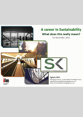 A Career in Sustainability What does this really mean?