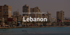 Advanced Chief Sustainability Officer (CSO) Professional training course Lebanon