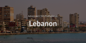 Advanced Chief Sustainability Officer CSO Professional training course Lebanon