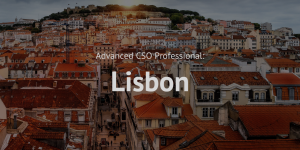 Advanced Chief Sustainability Officer (CSO) Professional training course Lisbon