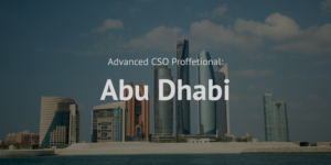 Advanced Chief Sustainability Officer CSO Professional training course Abu Dhabi