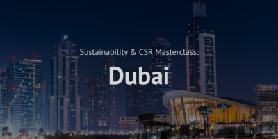 Sustainabilty and CSR Masterclass Corporate Social responsibility training course dubai