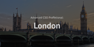 Advanced Chief Sustainability Officer CSO Professional training course London