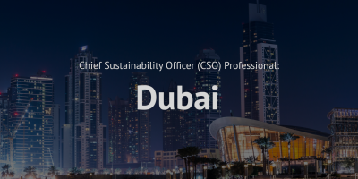 Chief Sustainability Officer (CSO) Professional Training course Dubai