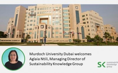 Aglaia Ntili, Managing Director of Sustainability Knowledge Group, joins Murdoch University Dubai