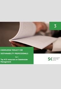 Knowledge Toolkit for Sustainability Professionals vol. 3 Top 10 Stakeholder Management Resources