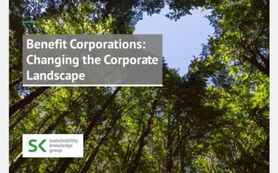 Benefit Corporations: Changing the Corporate Landscape