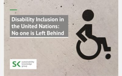 Disability Inclusion in the United Nations: No one is Left Behind