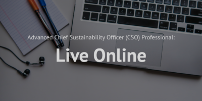 Advanced Chief Sustainability Officer (CSO) Professional_Live online