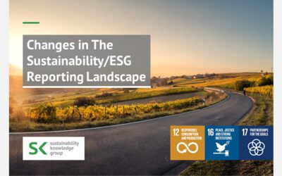 Changes in The Sustainability/ESG Reporting Landscape