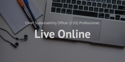 Chief Sustainability Officer (CSO) Professional_Live online