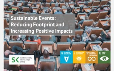 Sustainable Events: Reducing Footprint and Increasing Positive Impacts