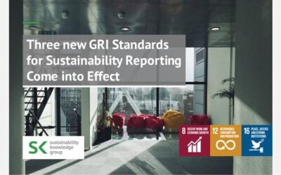 Three new GRI Standards for Sustainability Reporting Come into Effect