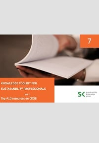 Knowledge Toolkit for Sustainability Professionals vol. 7 Top 10 CDSB Resources