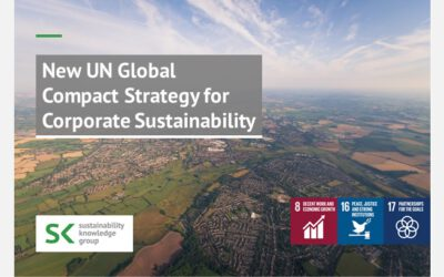 New UN Global Compact Strategy for Corporate Sustainability