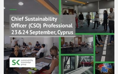 Chief Sustainability Officer (CSO) Professional 23&24 September, Cyprus